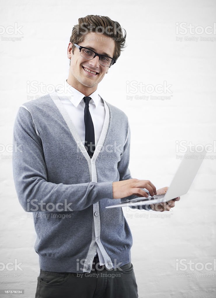 Retrieving emails royalty-free stock photo