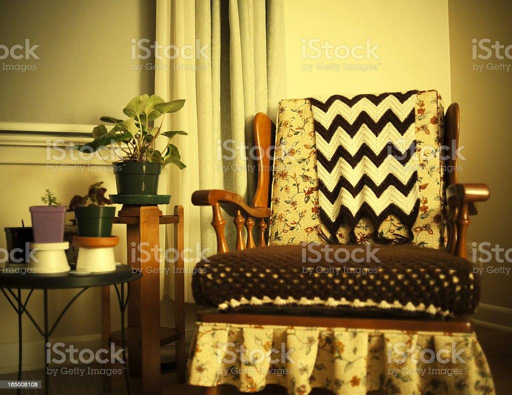 Retro 1950s Living Room Scene royalty-free stock photo