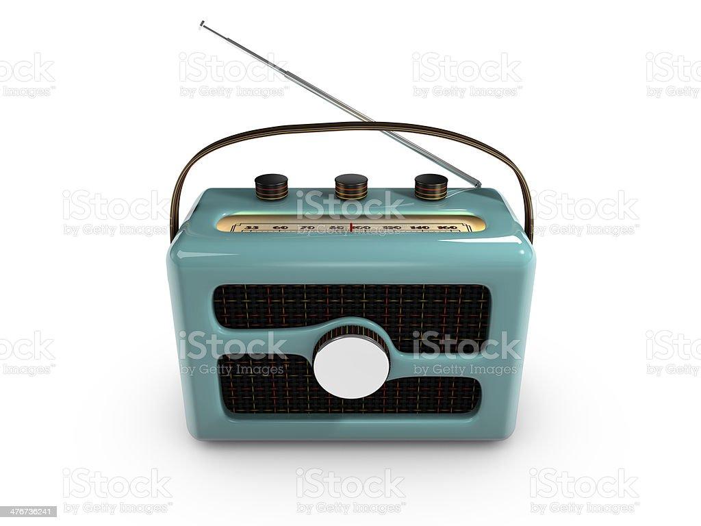 Retro 1950s-1960s style Radio stock photo