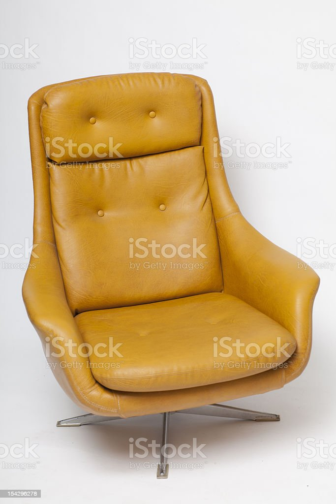 Retro 1960s, 1970s , Egg Chair Vintage Home Royalty Free Stock Photo