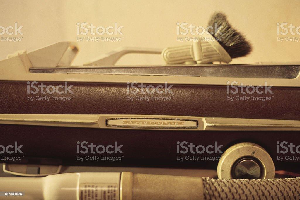 Retro 1970s Era Vacuum Cleaner stock photo