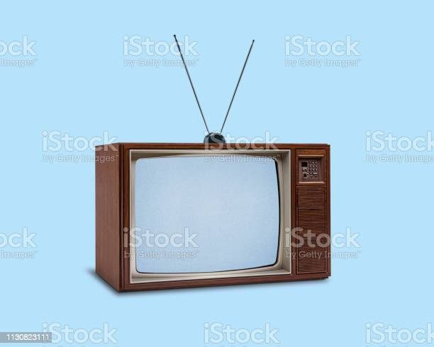 Retro 1970s television on blue background picture id1130823111?b=1&k=6&m=1130823111&s=612x612&h=pg4e8l8be7lybopihpdyz25udtsspplzy bs9cjw6ce=