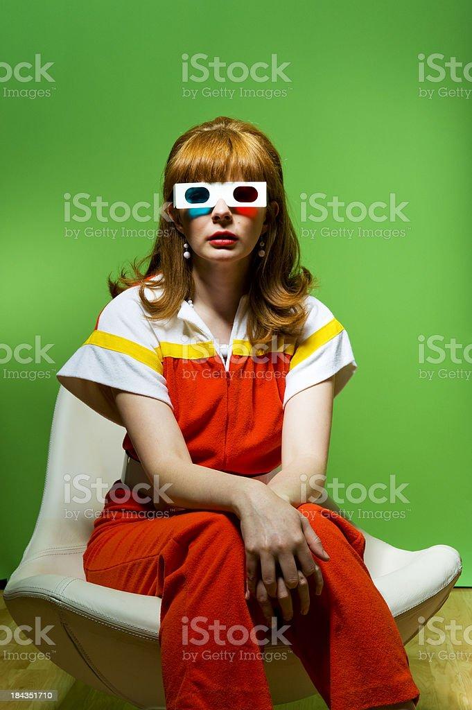 Retro 3D Glasses stock photo
