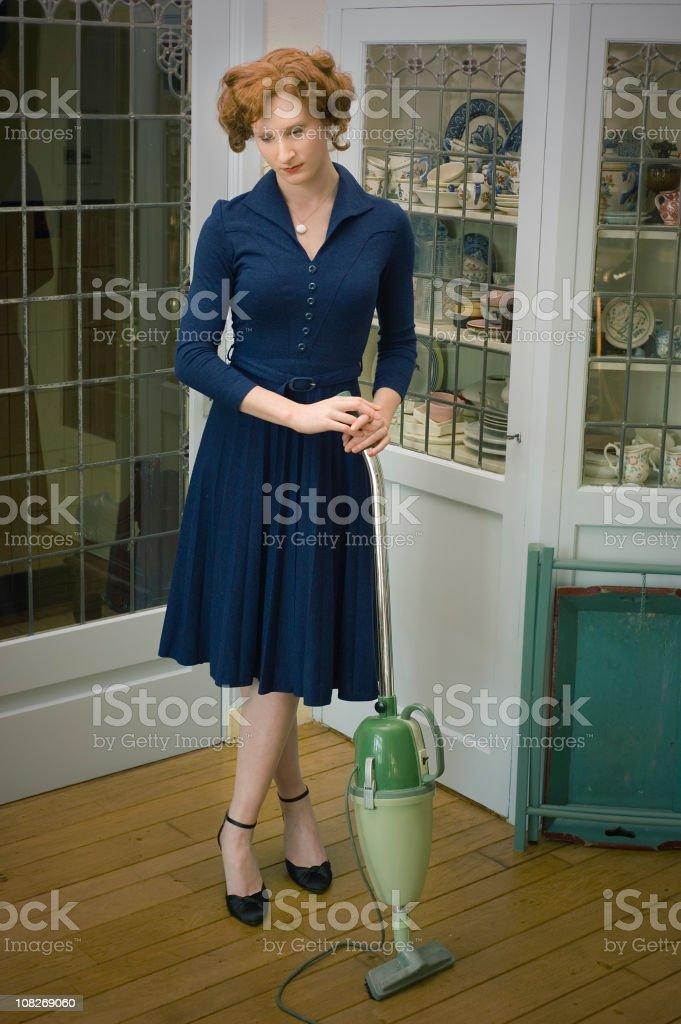Retro 50's housewife stock photo