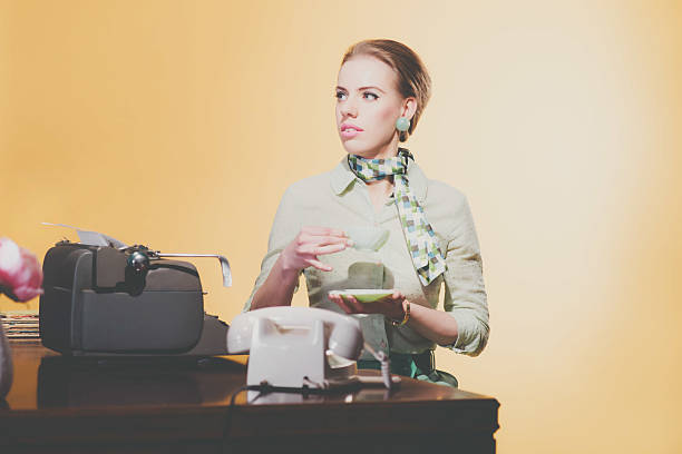 Royalty Free 1950S Style Image Created 1950S Telephone Receptionist Pictures, Images -5732