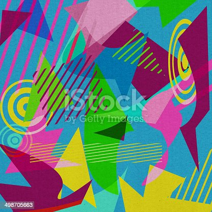 istock Retro 80's Shapes Background 498705663