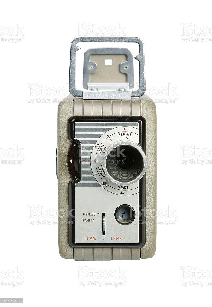 Retro 8mm camera stock photo