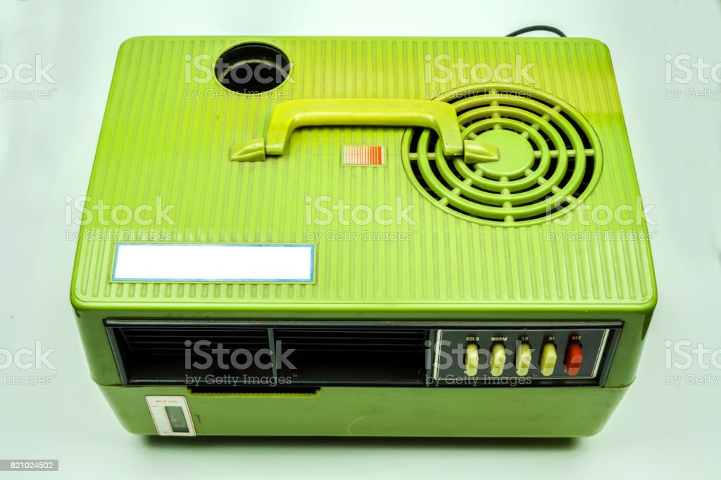 Retro Air Cooler Mobile on  White Background stock photo