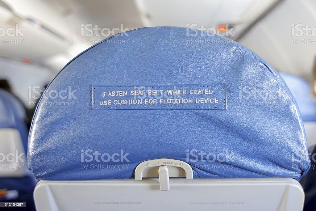 Retro Airplane Seatback stock photo