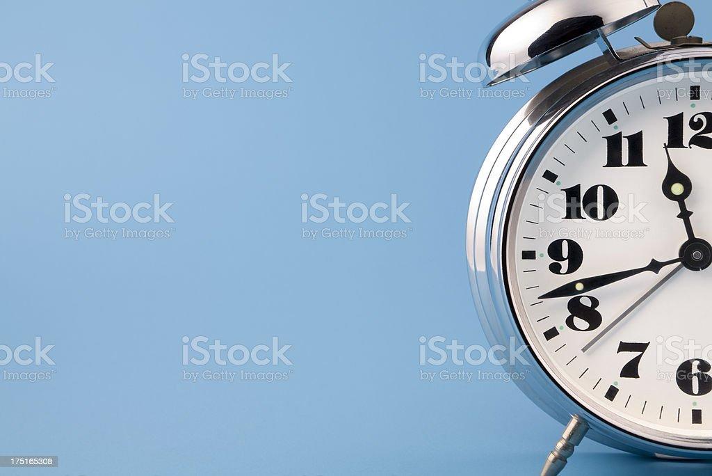 Retro alarm clock stock photo