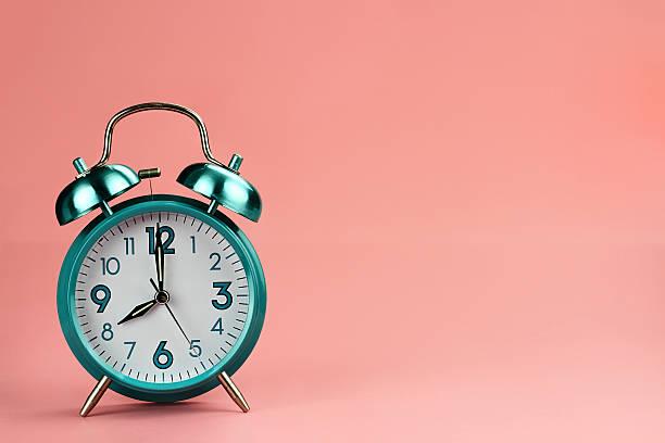 retro alarm clock - alarm stock photos and pictures