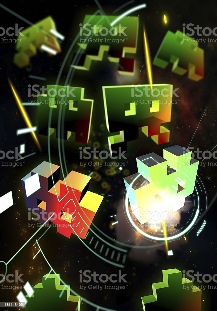 Retro Arcade Games royalty-free stock photo