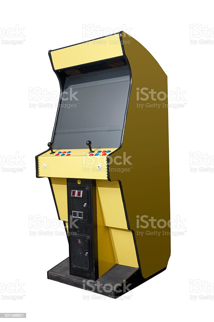 Retro arcade machine stock photo