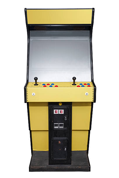 Retro arcade machine stock photo