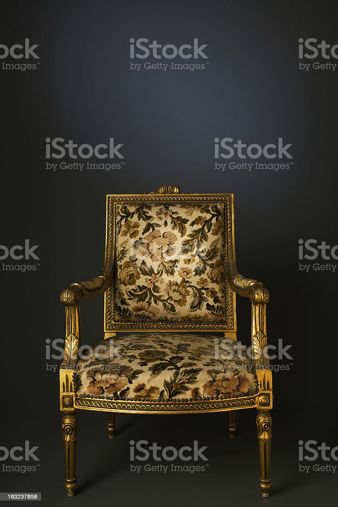 Retro armchair front view royalty-free stock photo