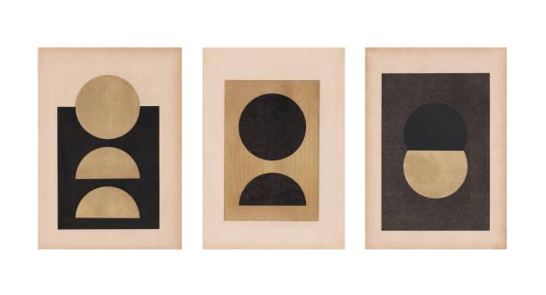 collage d'art rétro avec la texture de papier - art moderne photos et images de collection