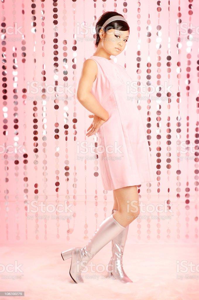 Retro Asian Girl royalty-free stock photo