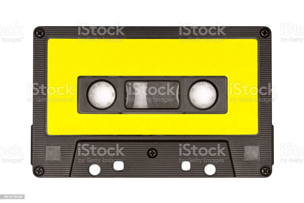 Retro audio cassette tape stock photo