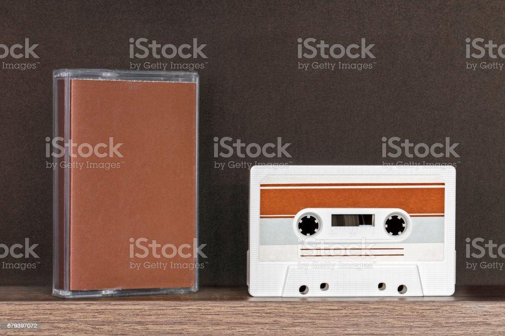 Retro audio tape stock photo