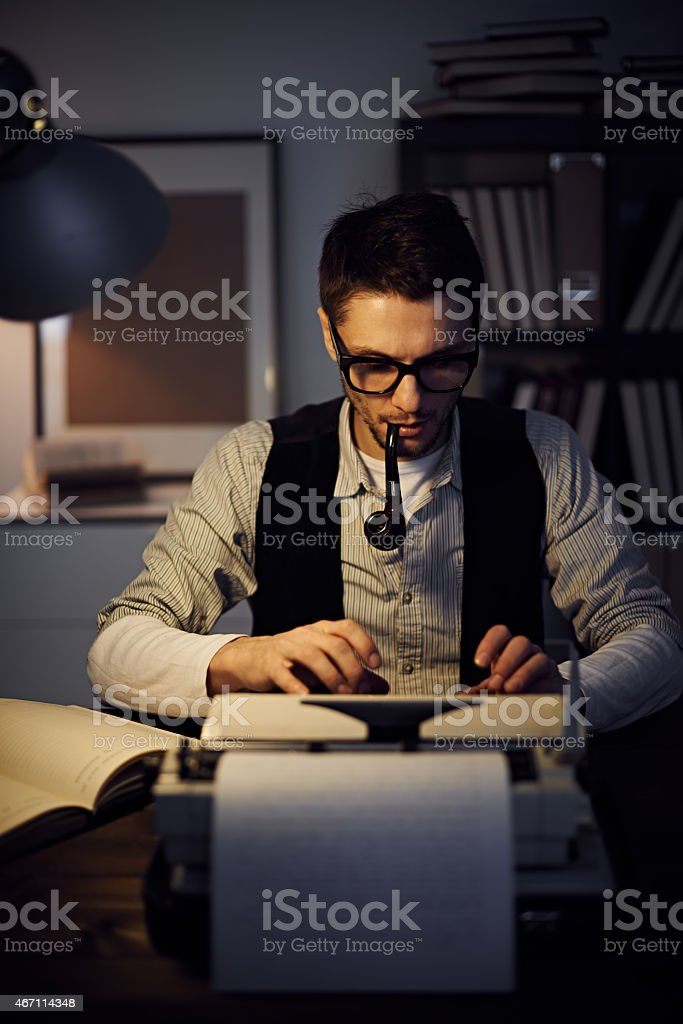 Retro author stock photo