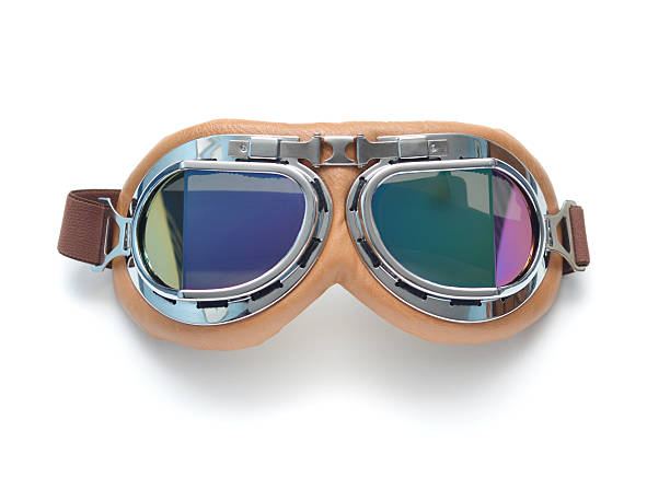 Retro Aviator Goggles stock photo