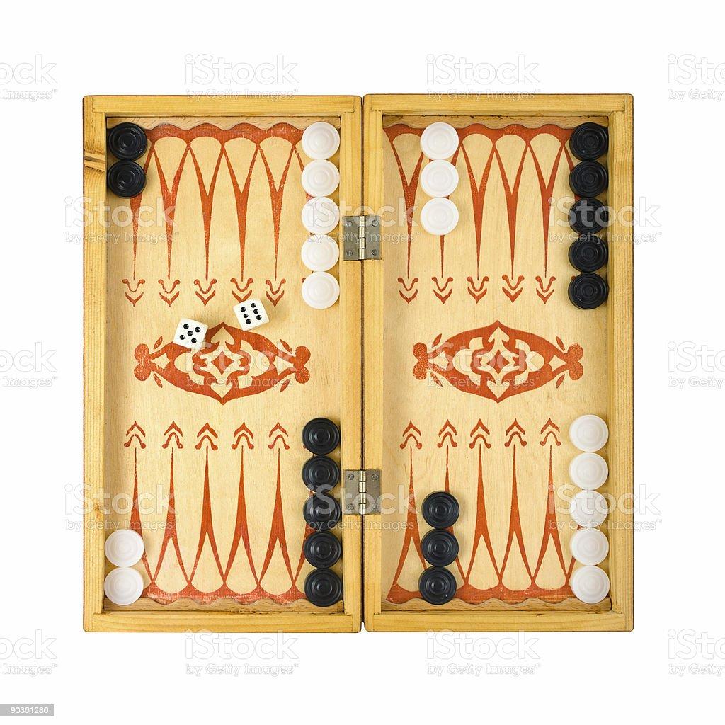 Retro backgammon game stock photo