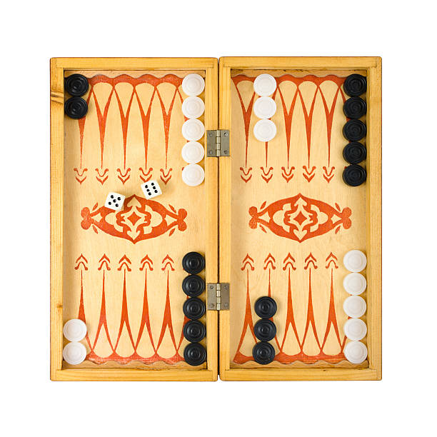 retro backgammon game - backgammon stock pictures, royalty-free photos & images