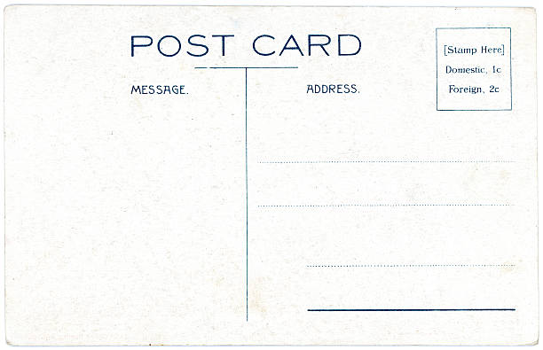 Retro Background Image of an Vintage Modern Postcard Back stock photo