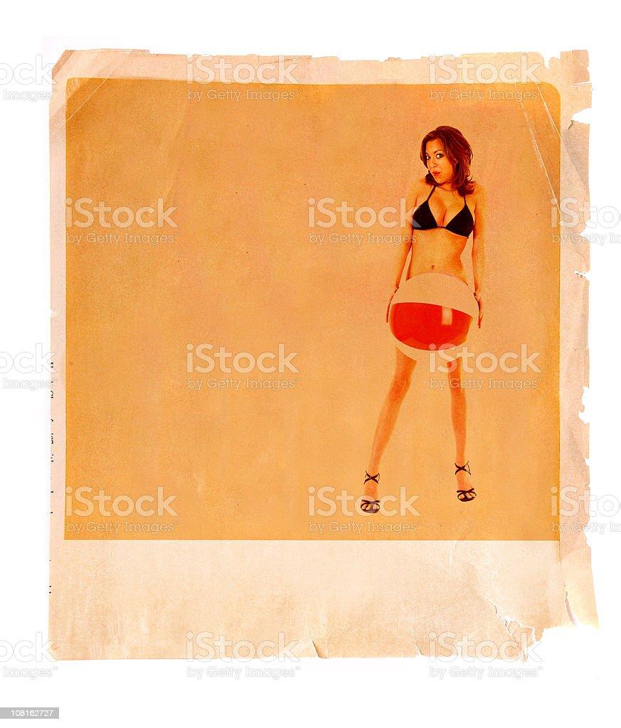 Retro Beach Party Poster Ad royalty-free stock photo