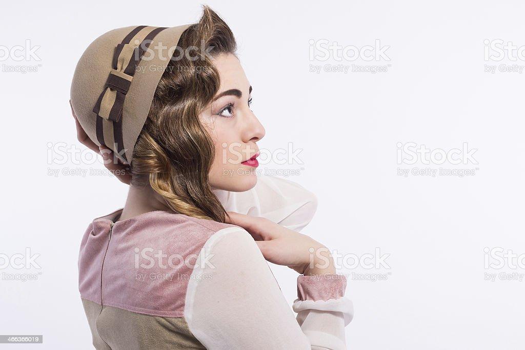 Retro beauty girl royalty-free stock photo
