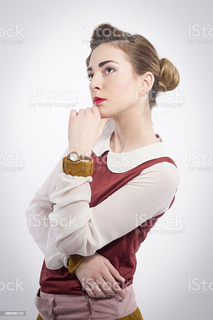 Retro beauty girl royalty-free stock photo