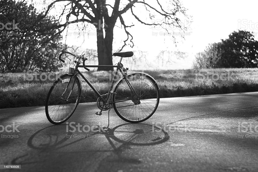 Retro Bicycle in Black and White stock photo
