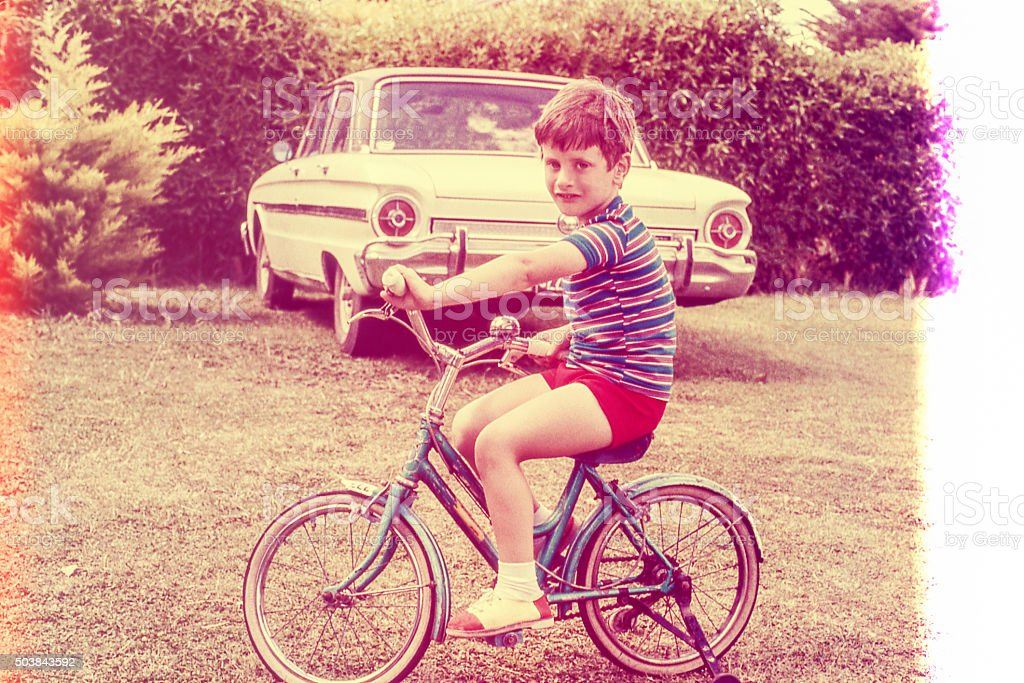 Retro Bicycle stock photo