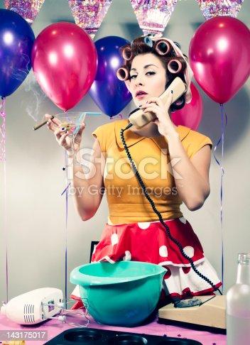 istock Retro Birthday Drinking & Talking 143175017
