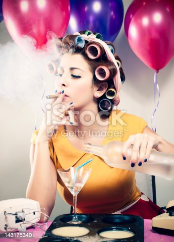 istock Retro Birthday Smoking & Drinking 143175340