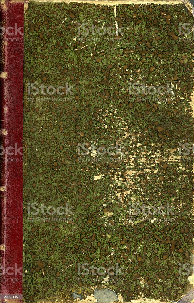Retro Book Cover in Green royalty-free stock photo