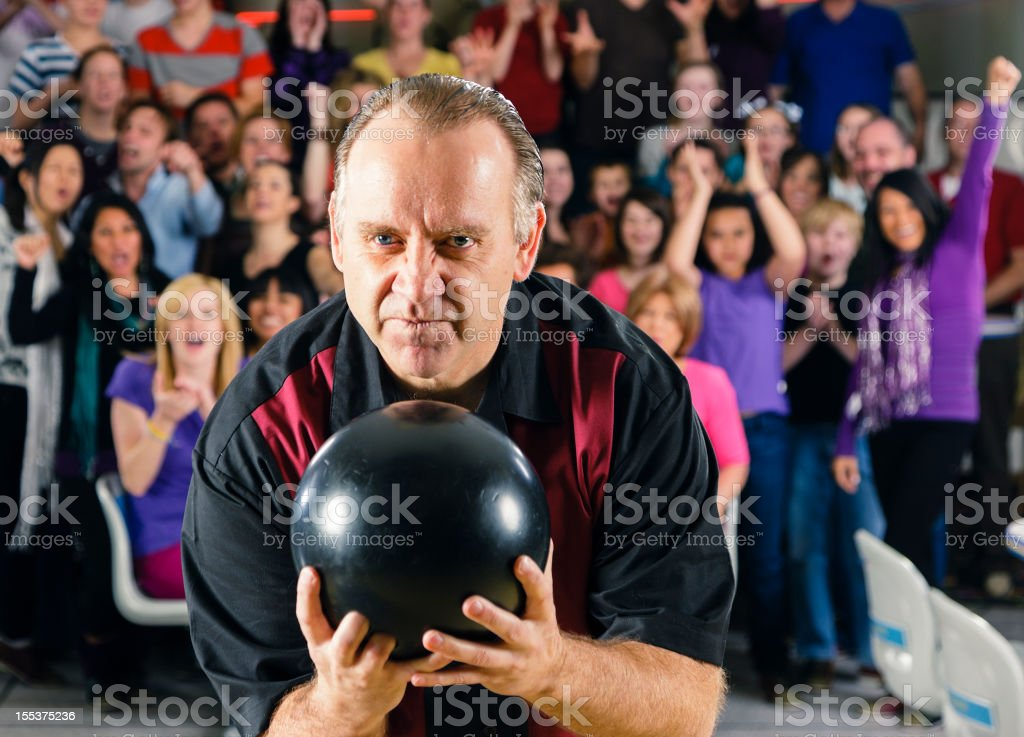 Retro Bowler royalty-free stock photo