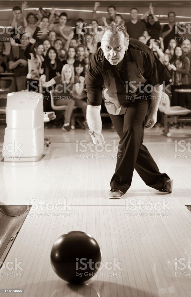 Retro Bowler stock photo