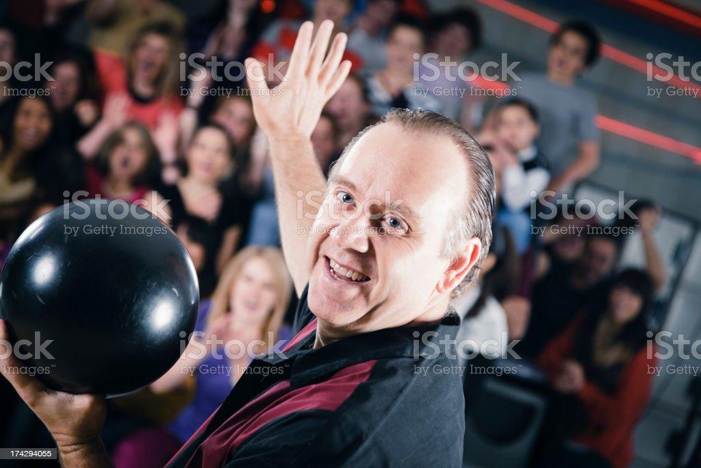 Retro Bowler royalty-free stock photo