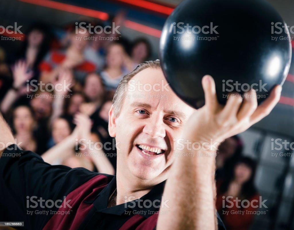 Retro Bowler stock photo