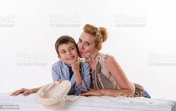 Retro Mom Boy