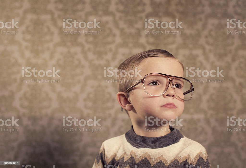 Retro Boy stock photo