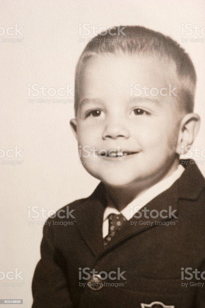retro boy royalty-free stock photo