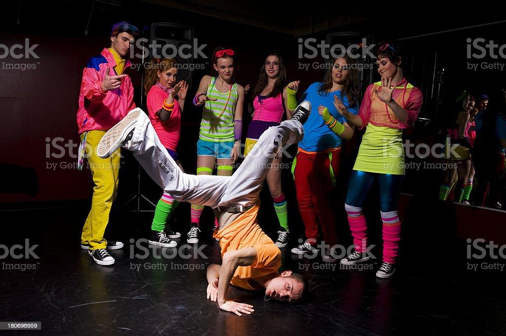 Retro Break-Dancing stock photo