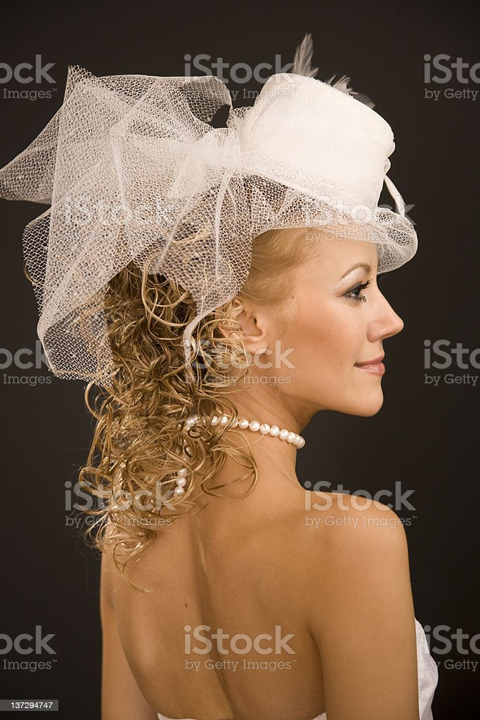 Retro-Braut-Profil – Foto