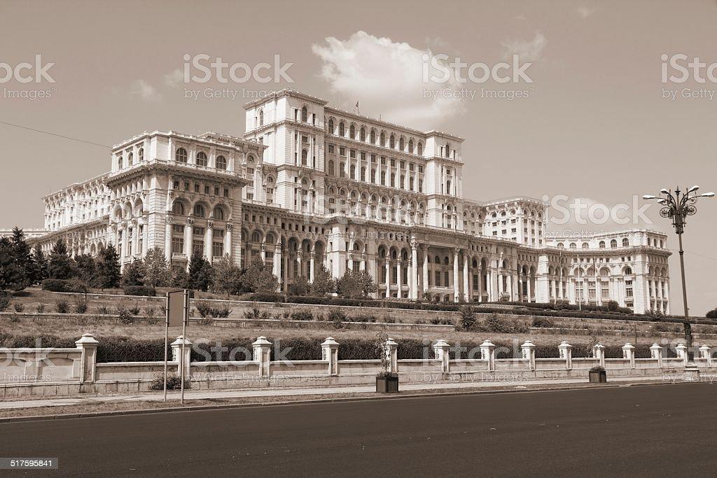 Retro Bucharest stock photo