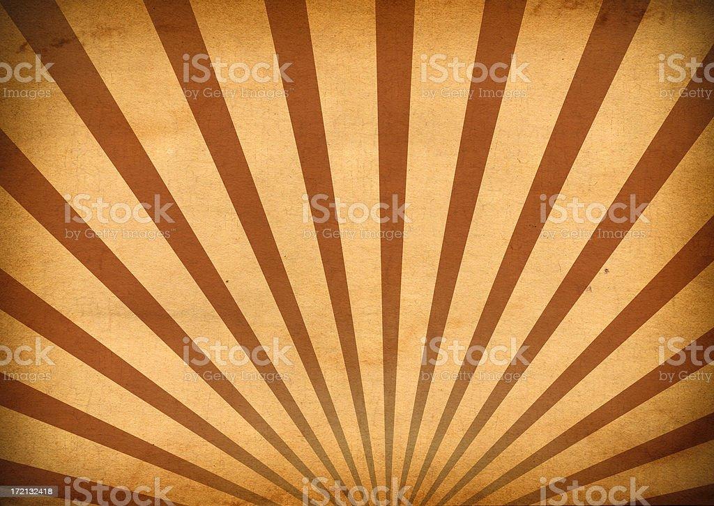 Retro Burst Background (Sunrise or Sunset) royalty-free stock photo