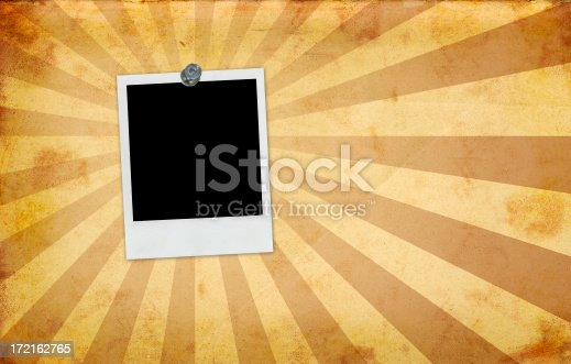 144325206 istock photo Retro Burst Paper and Photo Frame 172162765