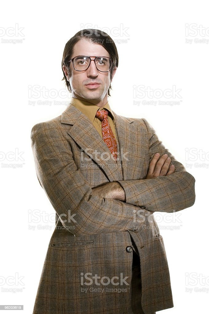 Retro Businesman royalty-free stock photo
