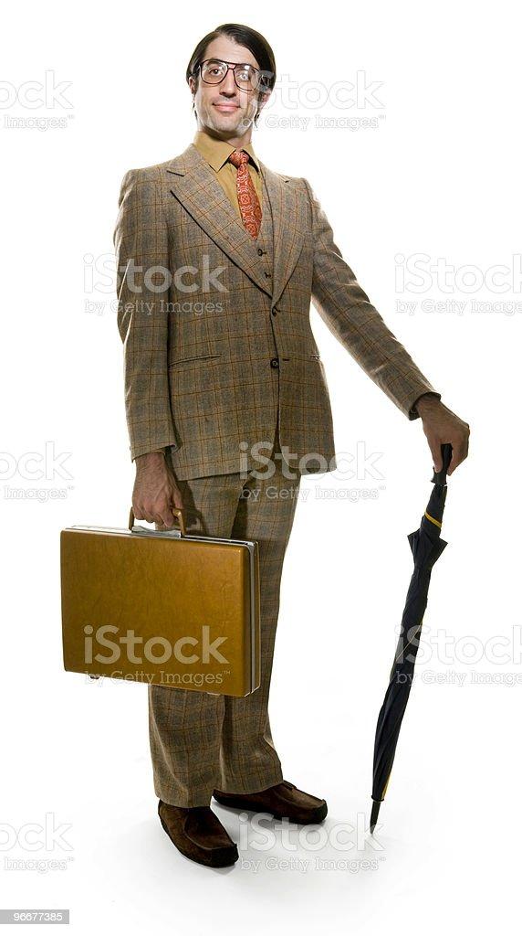 Retro Businessman royalty-free stock photo
